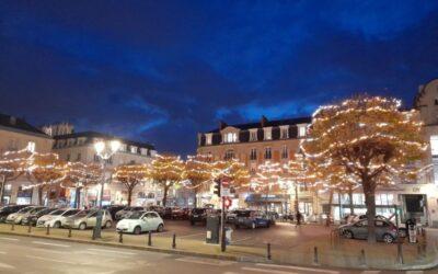 Illuminations des fêtes dans la ville de Reims